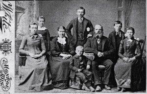 The Lueck family c. 1888 when Millie (far left) left the farm