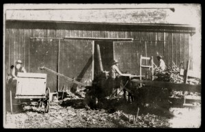 Threshing on the Lueck Farm