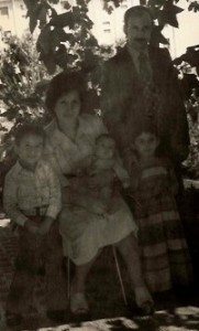 Mehdi as a baby in Algeria with his family