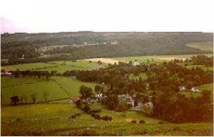 Campsie Glen in picture taken from the Campsie Fells (hills)