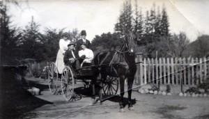 Annie, Carl and Freida Meyer, with Arthur Wolfe – Freida's husband-to-be