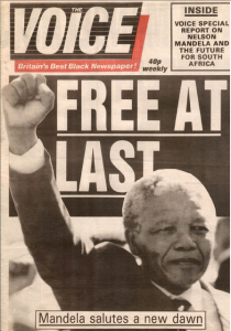 Nelson Mandela is freed from prison after 27 years. Photo: The Voice
