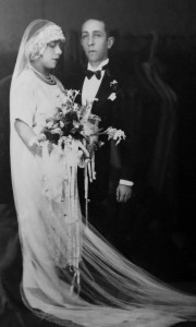 Grandma Maria and Grandpa Pablo on their wedding day