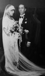 Grandma Maria and Grandpa Pablo on their wedding day