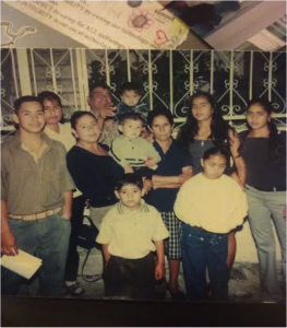 Eva and family members in Mexico