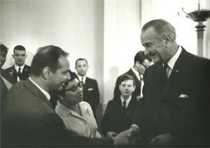 with LBJ when wife, Rita became a naturalized citizen