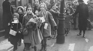 Viennese children arrive in London on the Kindertransport. Photo courtesy of the Austrian National Library.