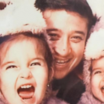 Rosendo with his twin daughters when they were toddlers