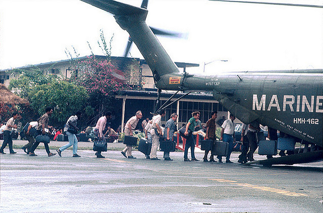 Evacuating from South Vietnam and end of war.